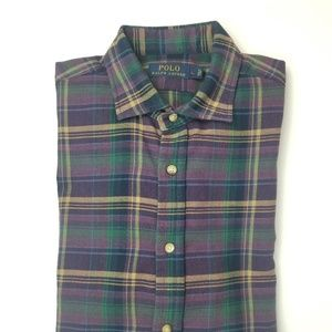 Ralph lauren plaid long sleeve